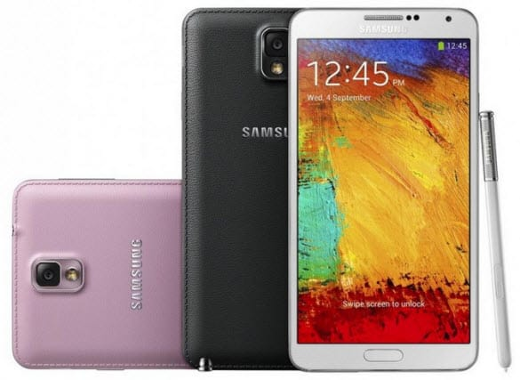Galaxy Note 3 colors