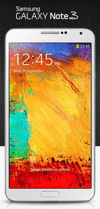 Galaxy Note 3 no logo