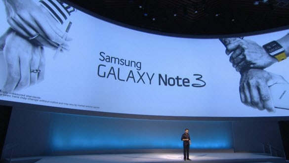 Galaxy Note 3 on Stage