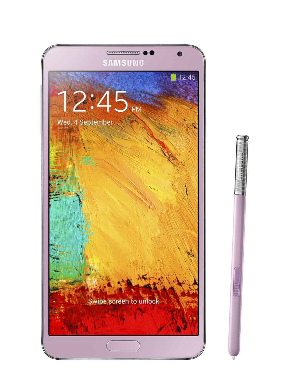 Galxy Note3 002 front with pen Blush Pink