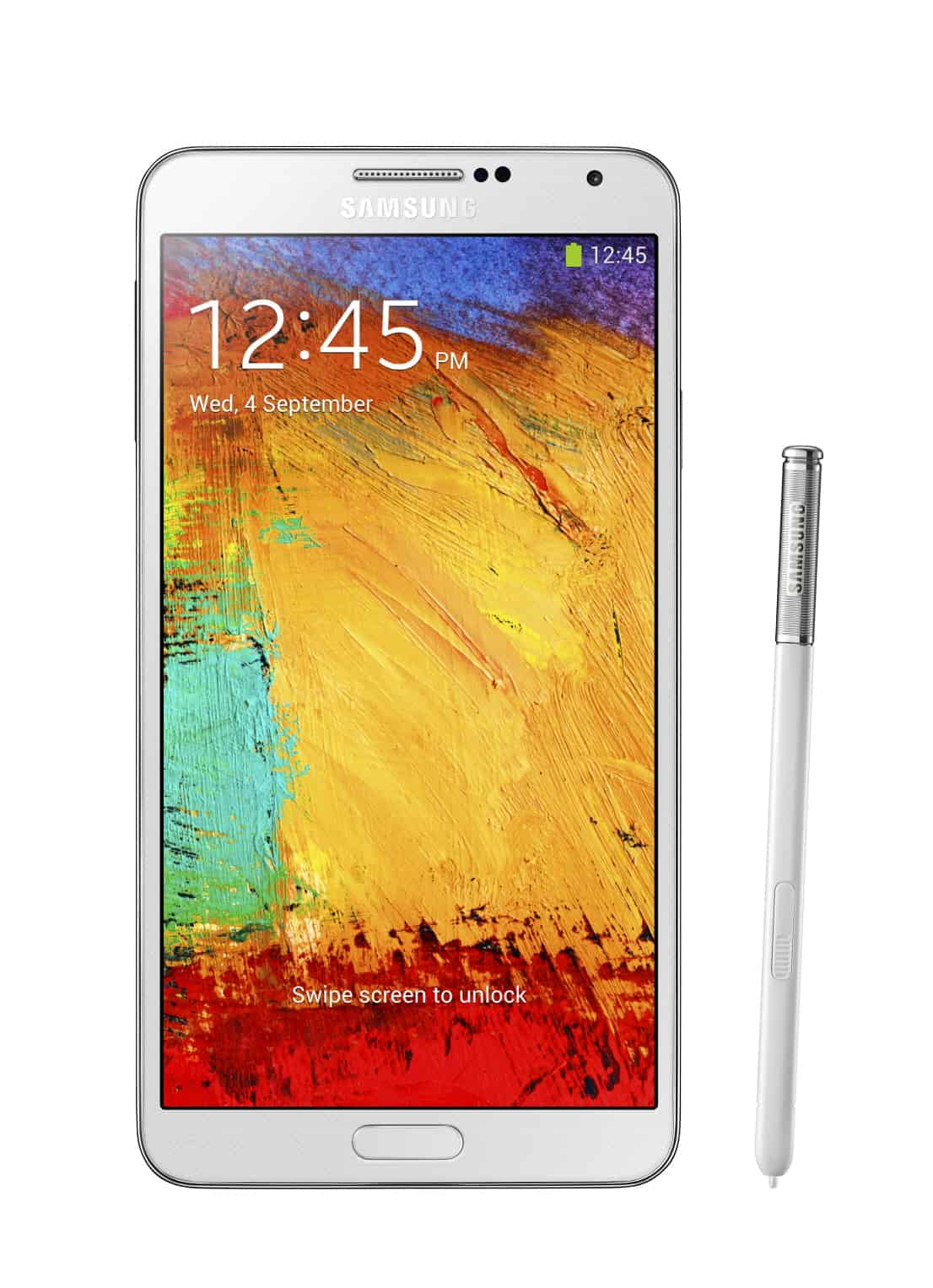 Galxy Note3 002 front with pen Classic White