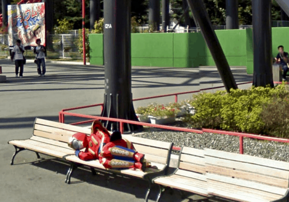Hero on Bench