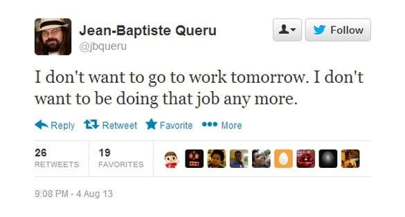 Jean-Baptiste Queru Tweet dont want too
