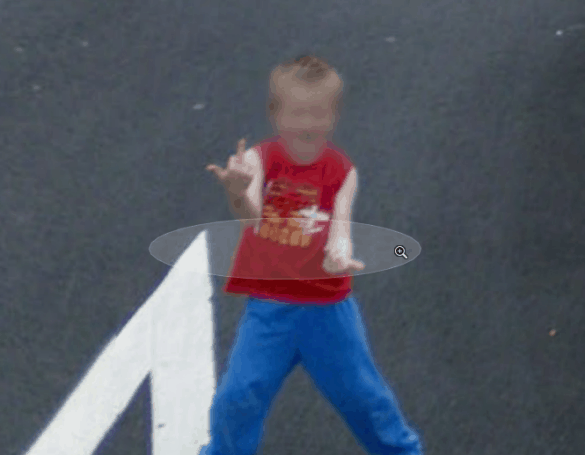 Kid giving finger