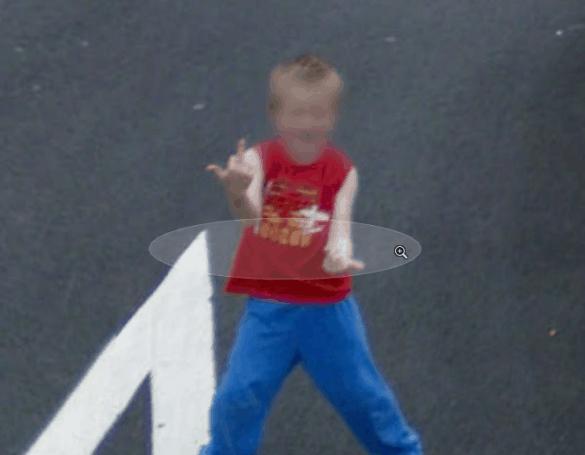 Kid giving finger