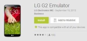 LG 2 Emulator Play Store