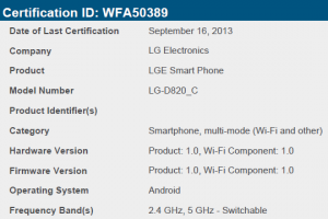 LG D820 Gets WiFi Certifed as LG-D820_S and LG-D820_C…..Could we Have a CDMA and a GSM Version?