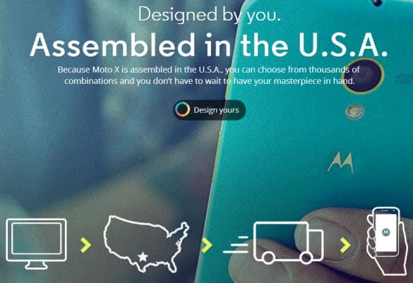 Moto x Assembled in the USA