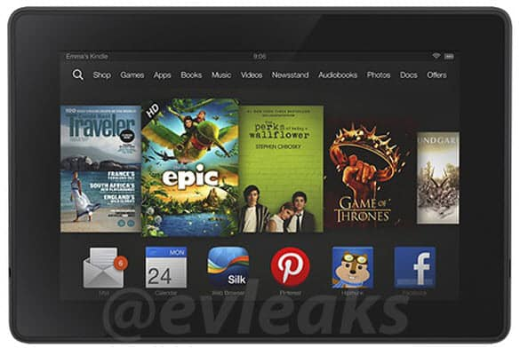 New Kindle Fire Evleaks