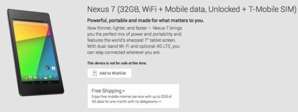 Nexus 7 Avail GP