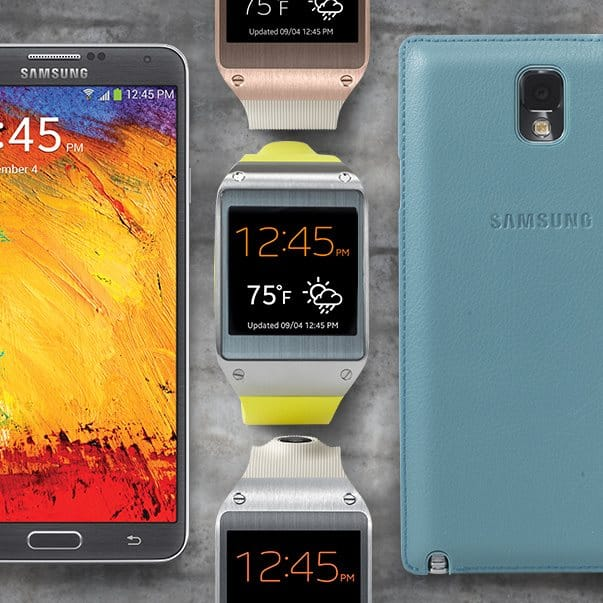 Samsung Galaxy Note 3 and Galaxy gear Watch