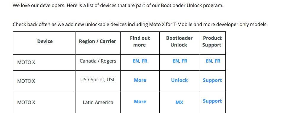 moto x bootloader unlock