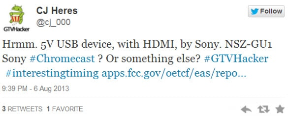 Smart Stick FCC Tweet