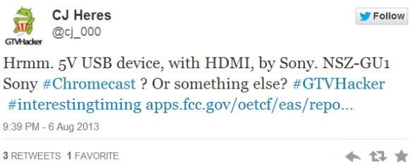 Smart Stick FCC Tweet