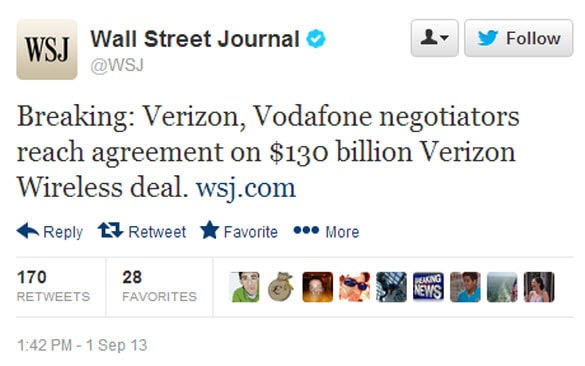 WSJ Vodafone Tweet new