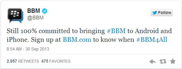 BBM Tweet