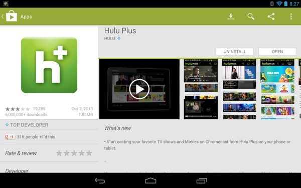 Hulu Plus Chrome Cast