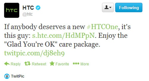 free htc one tweet