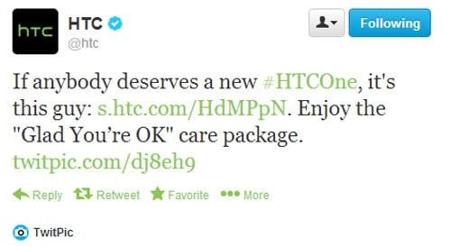 free htc one tweet