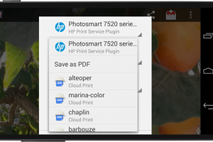 Android KitKat Focus Feature: Printing