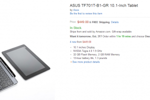 ASUS Transformer Pad Infinity TF701T Hits Amazon for $449