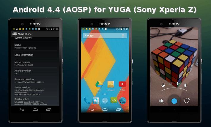 AOSP KRT16M   v3.1   3. Nov  4.4 STABLE   Android 4.3.1 STABLE  Kernel 3.4.67    xda developers