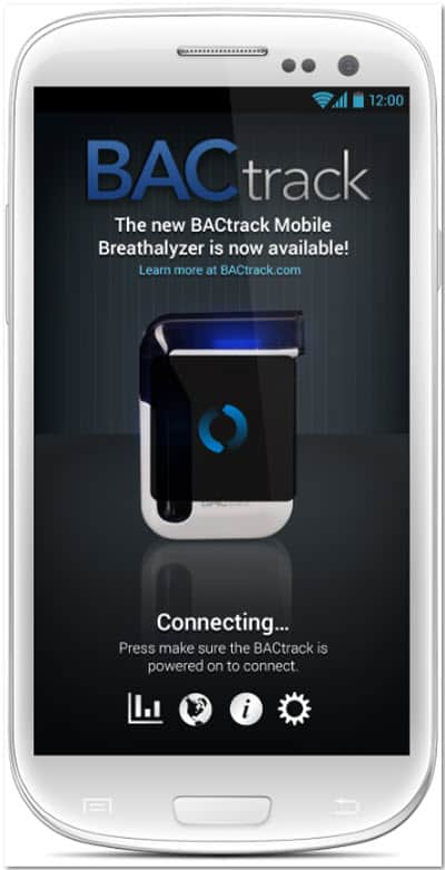 BACtrack Mobile Breathalyzer Connecting