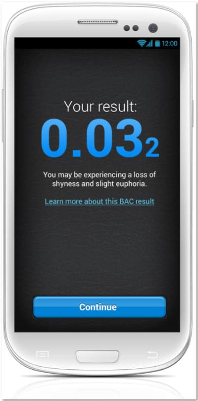BACtrack Mobile Breathalyzer Initresults