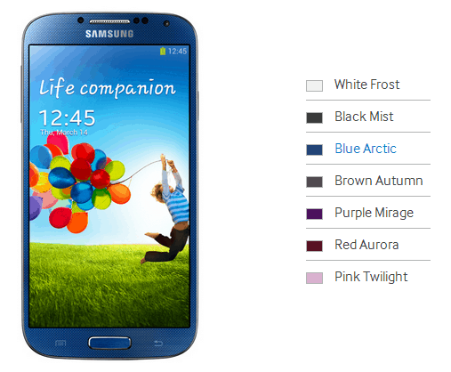 Galaxy S4 Colors