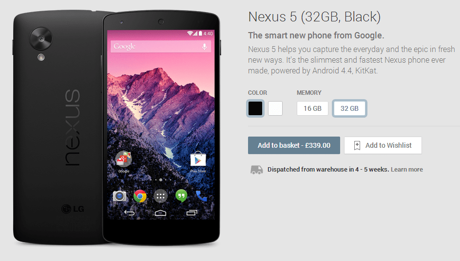 Nexus 5  32GB  Black    Devices on Google Play