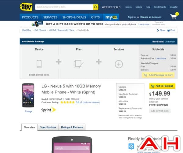 Nexus 5 Best Buy