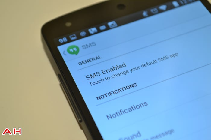 Nexus 5 Hangouts SMS AH