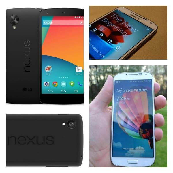 Nexus 5 vs S4 Collage