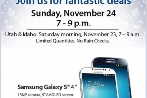 Samsung Galaxy S4 and HTC One to Cost Just 96 Cents From Sam's Club This Black Friday Weekend