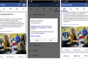 Latest Facebook Test Build Shows Drastic Redesign – Cross between Holo and Metro UIs