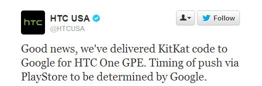 htc one gpe 4.4 tweet