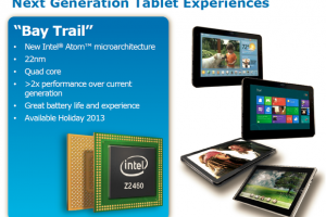 Intel Announces 64-Bit Bay Trail Chip for Tablets for Next Year
