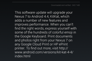Download: Nexus 7 (2013) LTE and Nexus 7 (2012) 3G Android 4.4 KitKat Updates