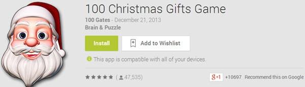 100 Christmas Gifts Game
