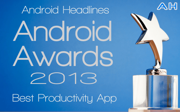 Android Awards Best Productivity App 2013