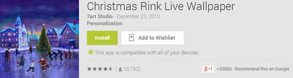 Christmas Link Live Wallpaper