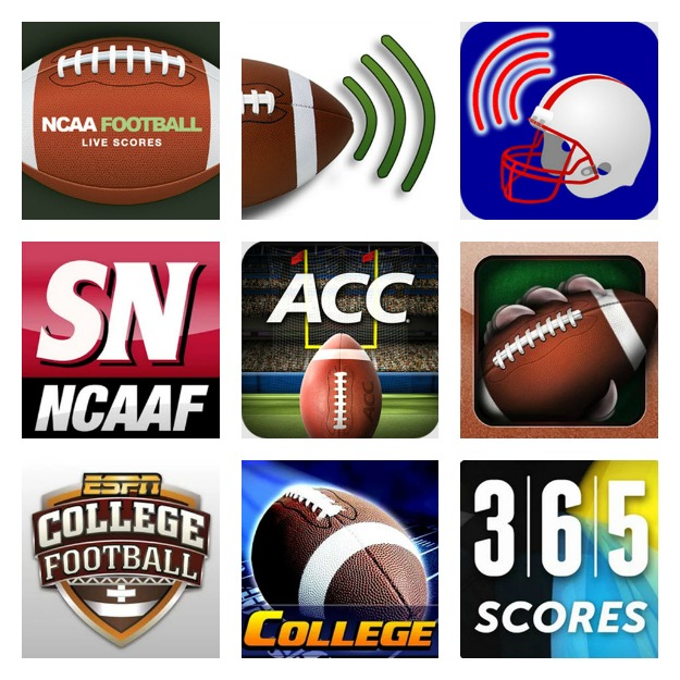 College Football App Collage