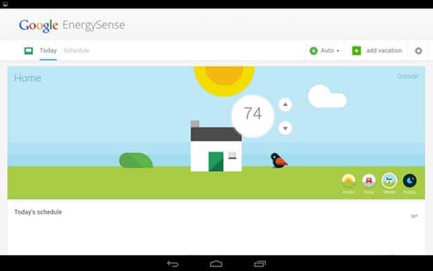 EnergySense Main Screen