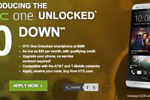 HTC One Available Off-Contract with $0 Down Financing Plan Straight from Manufacturer