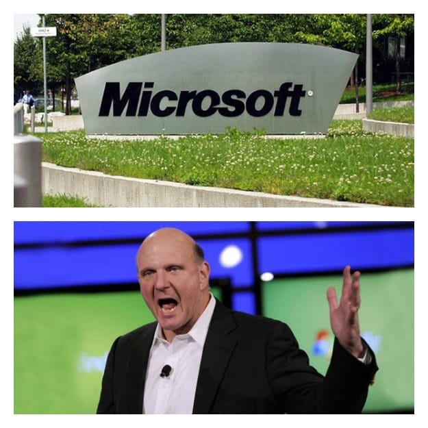 Microsoft and Ballmer Collage
