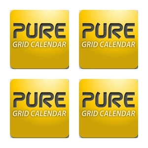 Pure Grid Calendar Collage