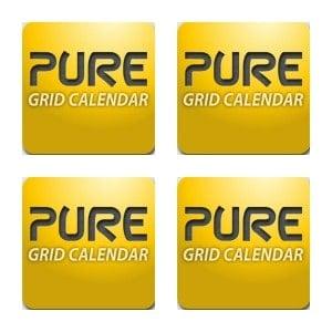 Pure Grid Calendar Collage