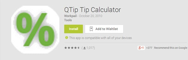 QTip Tip Calculator