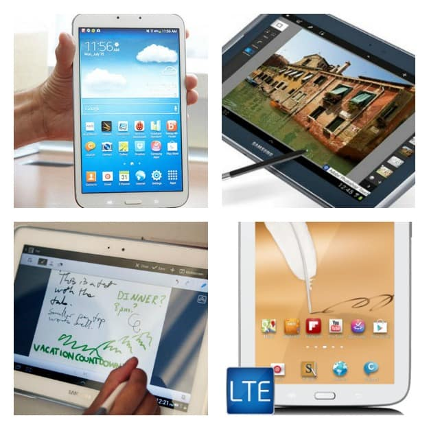 Samsung Tablet Collage