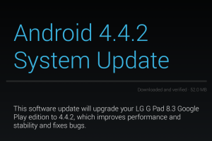 LG's G Pad 8.3 Google Play Edition Getting Android 4.4.2 Right Now!